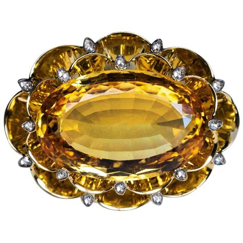 Is This Really A Gold Topaz by Deco 20 Carat Russian Imperial Topaz Brooch