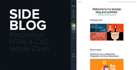 themeforest blog sideblog a modern responsive blog portfolio by