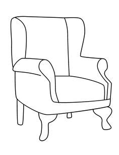 school chair coloring page 1000 images about armchairs on pinterest digi sts