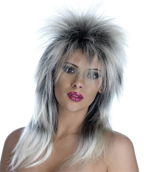 spikey wigs for black women tina turner blonde black spiky wig 170g one size music