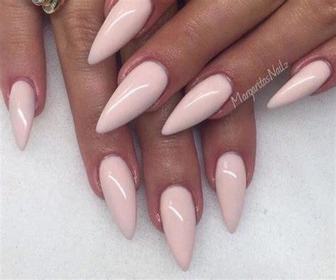 stiletto nails  beautiful pink light colour fashion