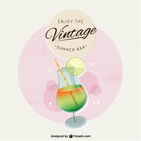 imagenes vintage verano cartel bar de verano vintage descargar vectores gratis