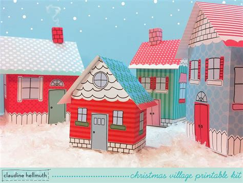 Printable Christmas Village | claudine hellmuth s blog retro whimsical art and