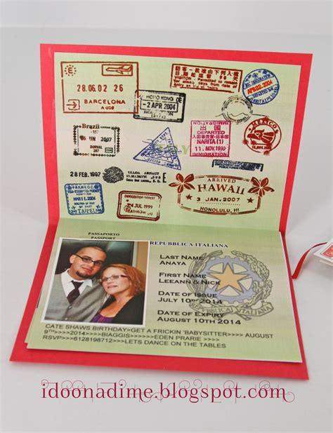 free printable italian passport arrivederci 30 party