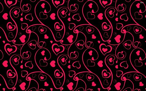 pattern background hearts heart and swirl pattern wallpaper
