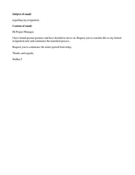 Resignation letter samples short notice sample resignation letters