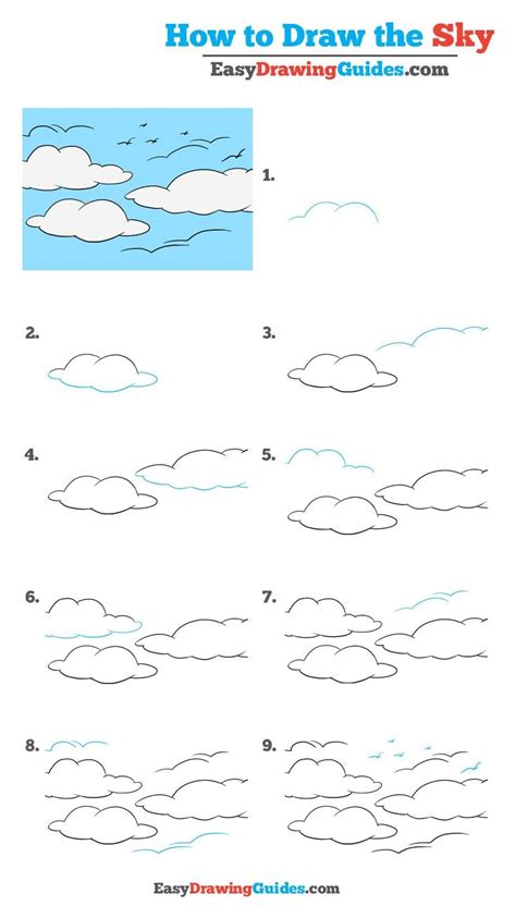 how to draw waves really easy drawing tutorial how to draw the sky really easy drawing tutorial easy