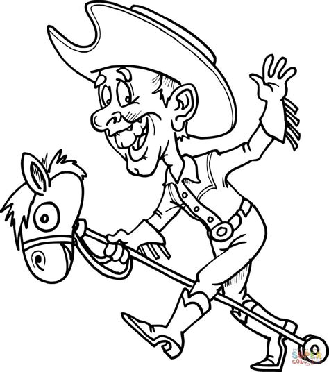 cowboy coloring pages cowboy on a coloring page free printable
