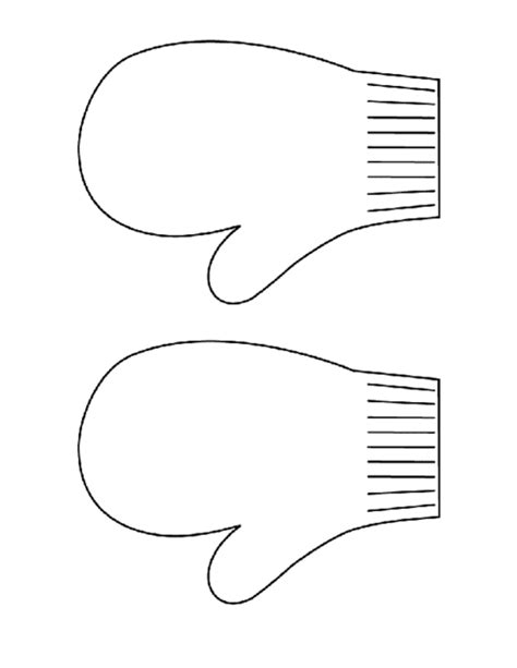 mitten template mittens pdf education world