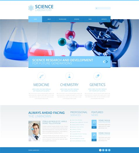 science newsletter templates science lab responsive joomla template 48964