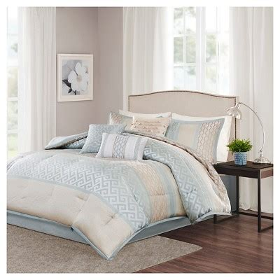 william greek key print comforter set 7pc target