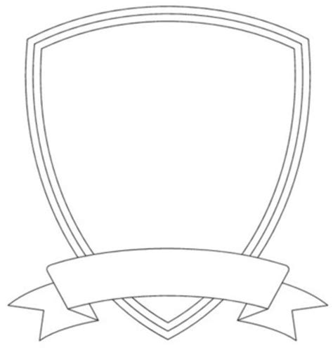 clip templates badge outline shield template image vector clip