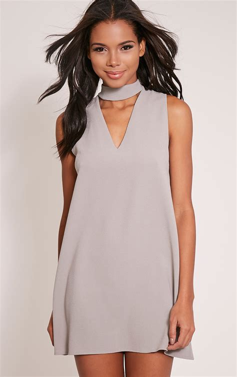 Alby Syari Dusty Grey dresses s cheap dresses prettylittlething
