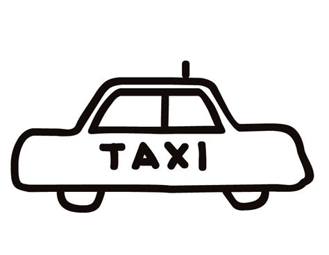 Taxi Coloring Page free coloring pages of taxi