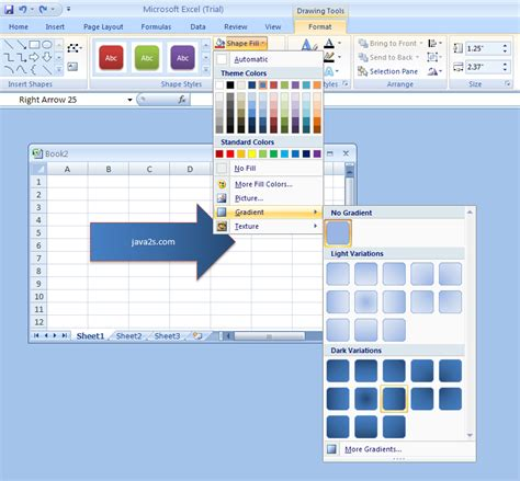 pattern fill shape excel set the color and line style for a shape as the default