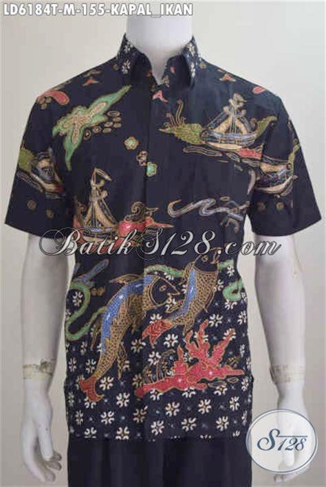 Batik Hem Ikan baju kemeja batik motif kapal ikan busana batik tulis untuk pria muda til makin gaya