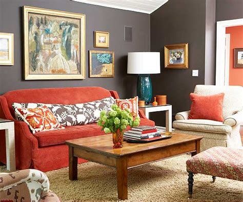 living room with red sofa 15 red living room design ideas