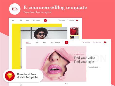 free e commerce blog template