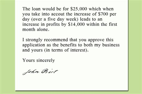 How To Write Loan Letter To Bank How To Write A Letter To A Bank Asking For A Loan 9 Steps