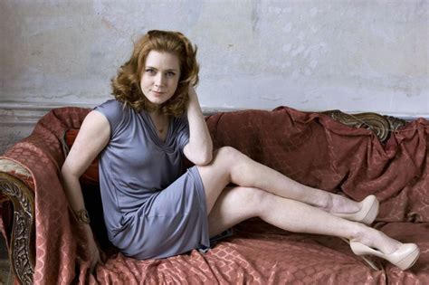 on the couch xxx amy adams leggy in a short dress and nude platform pumps