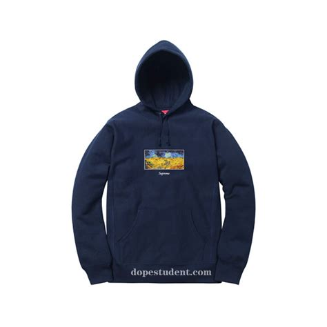 Hoodie Jket Supreme Navy 2017ss field pullover supreme hoodie dopestudent