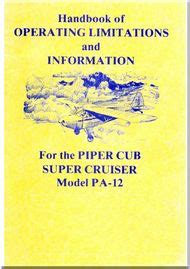 Service Letter Piper Piper Aircraft Pa 12 Cub Cruiser Service Letter Bulletins Manual Aircraft Reports
