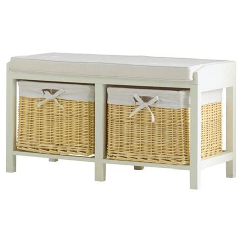 tesco shoe storage buy storage bench with wicker baskets from our shoe