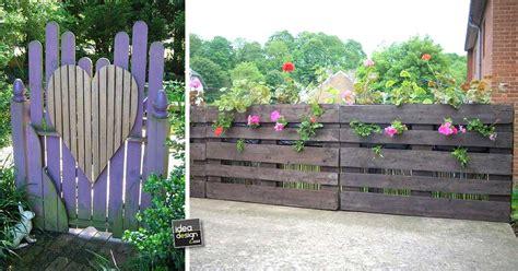 recinzioni giardino fai da te recinzione in legno fai da te con i bancali 20 esempi