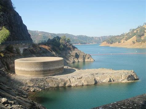 lake berryessa spillway bell mouth spillways how giant holes in the water are