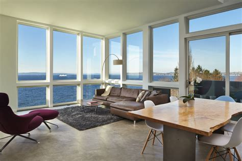 the living room seattle this house over alki beach is an actual dream come true