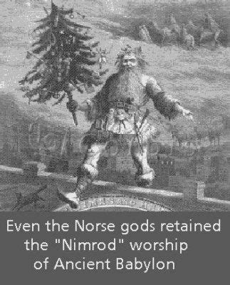 origin of tree nimrod the santa claus from the bottom of the barrel