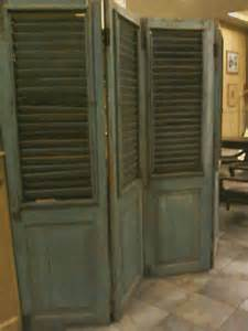 Shutter Closet Doors I Saw This At A Ritzy Hotel Door Shutters Were Re Purposed Into A Room Separator For The