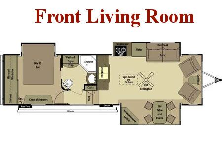 front living room 5th wheel floor plans new used travel trailers for sale broadmoor rv pasco