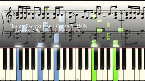 tutorial piano georgia florida georgia line ft nelly cruise music sheets