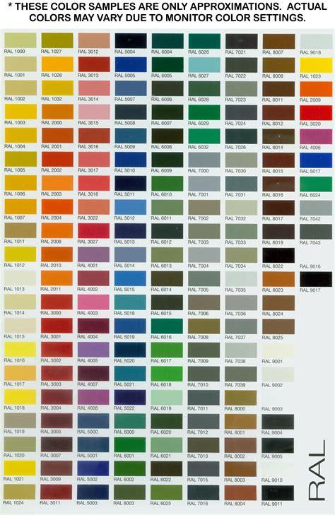 color selection color chart