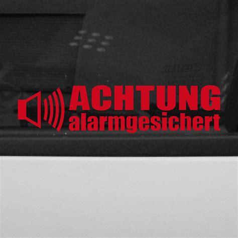 Aufkleber Auto Alarmgesichert by 5 St 252 Ck Achtung Alarmgesichert Aufkleber Tattoo Folie
