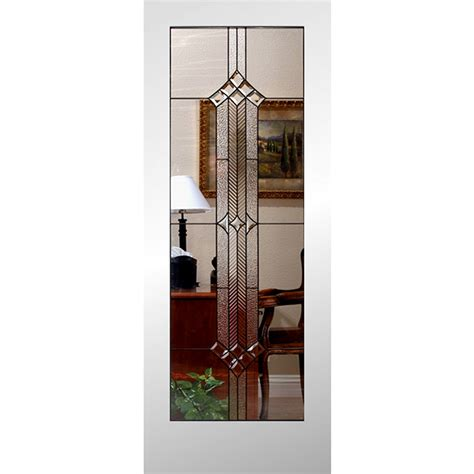 Interior Slab Door With Glass Shop Reliabilt 1 Lite Solid No Skin Non Bored Stained Glass Interior Slab Door Common