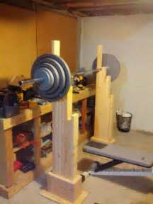 Folding Dumbbell Bench My Homemade Squat And Bench Rack 50 Cost Few Hours To