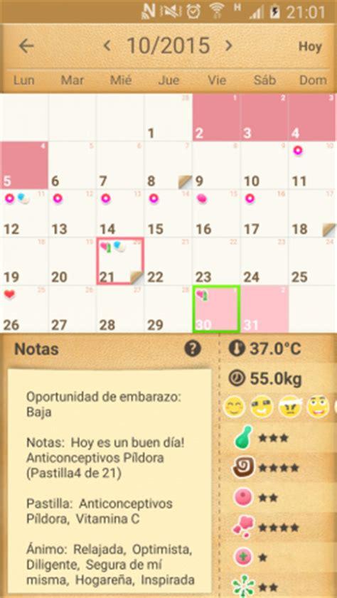 Ciclo Menstrual Calendario Aplicaciones Android Para Llevar Un Ciclo