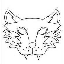 printable hyena mask template activit 233 s manuelles masque de loup fr hellokids com
