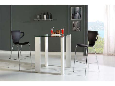ensemble table haute  chaises brandy coloris blancnoir