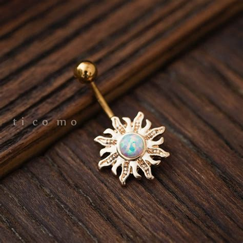 belly ring belly button ring belly button jewelry sun by