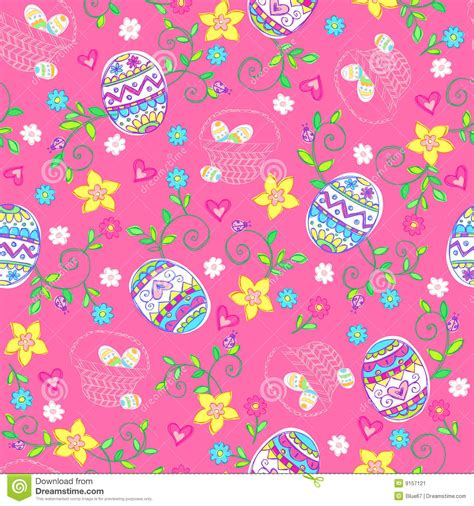 seamless egg pattern easter eggs seamless repeat pattern stock vector image