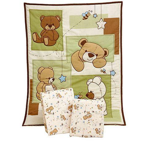 Teddy Crib Bedding Sets by Bedding By Nojo Dreamland Teddy 3pc Portable