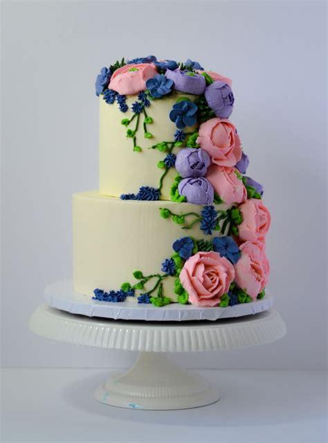buttercream anniversary cake cakecentralcom