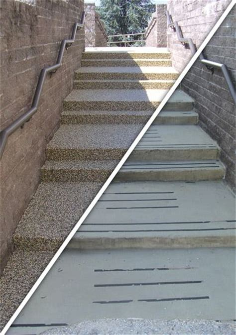 resurface concrete with pebble in one day