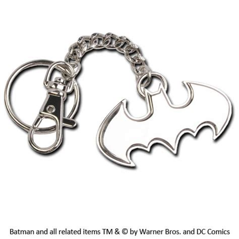 batman metal key ring logo the movie store