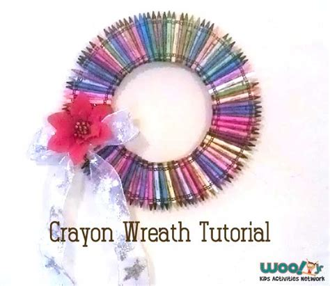 craft for teachers gift how to make a crayon wreath craft tutorial