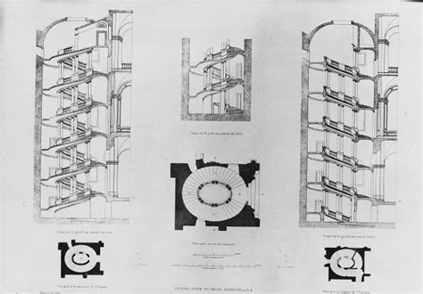 stair plan a a plans drawings spiral stair palazzo barberini