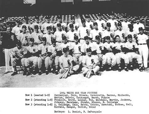 thedeadballera 1954 chicago white sox team photo